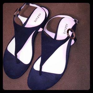Alfani Strappy Navy Sandals